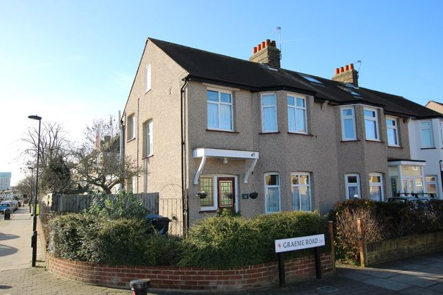 Thumbnail Terraced house for sale in Graeme Road, Enfield