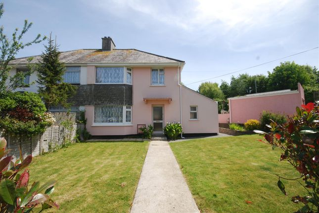 Thumbnail Semi-detached house for sale in Coombe Road, Penzance