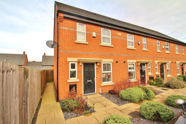 Thumbnail End terrace house for sale in Merttens Drive, Rothley, Leicestershire