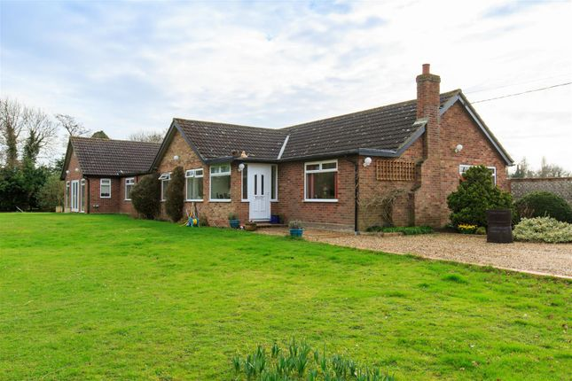 Thumbnail Detached bungalow for sale in Aslacton Road, Forncett St. Peter, Norwich