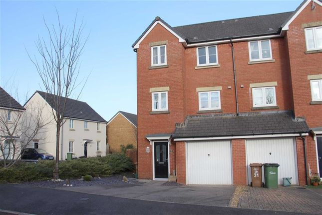 Thumbnail Town house for sale in Drum Tower View, Caerphilly