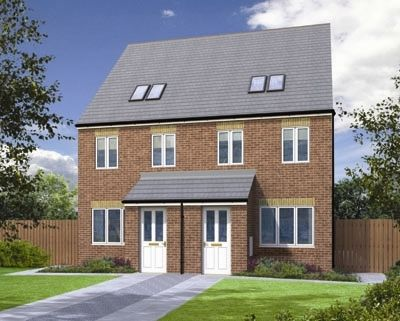"Thumbnail Terraced house for sale in ""The Swale"" at Lakeside Parkway, Scunthorpe"