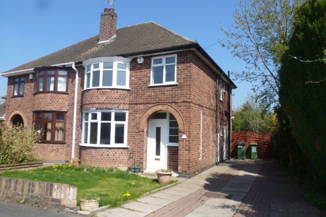 Thumbnail Semi-detached house for sale in The Fairway, Blaby, Leicester