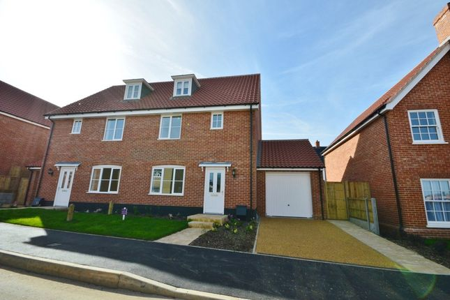 Thumbnail Semi-detached house to rent in Willow Way, Saxmundham