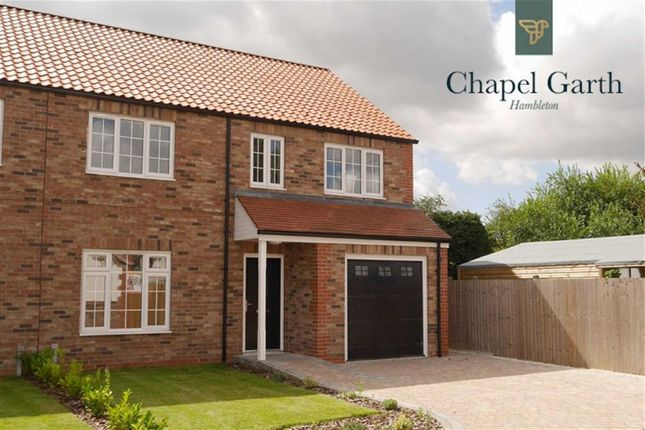 Semi-detached house for sale in Chapel Close, Hambleton, Selby