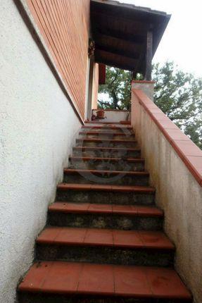 Stairs of Via Caduti Sul Lavoro 33, Pienza, Siena, Tuscany, Italy