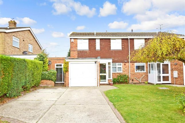 Thumbnail Semi-detached house for sale in Canon Close, Rochester, Kent