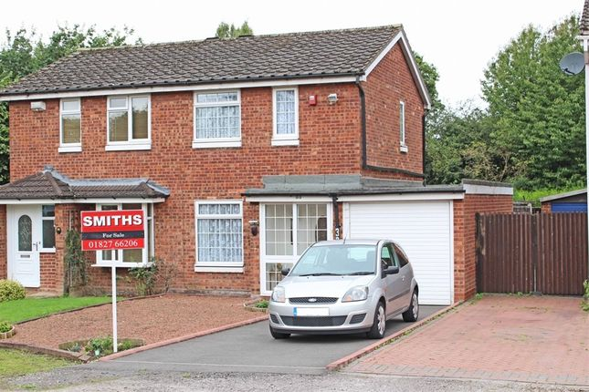 Thumbnail Semi-detached house for sale in Hartleyburn, Wilnecote, Tamworth, Staffordshire