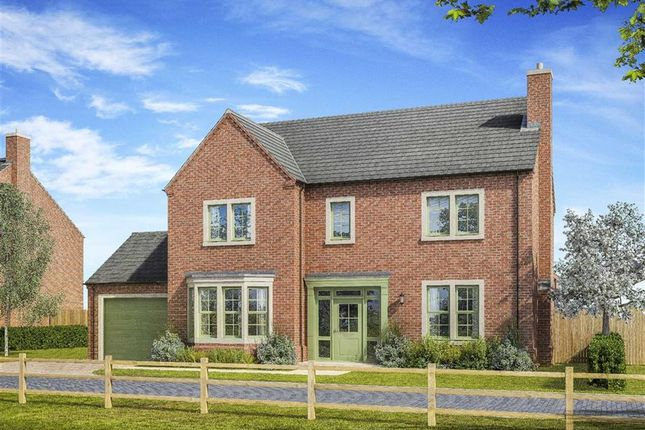 Thumbnail Detached house for sale in The Leas, Medburn, Ponteland