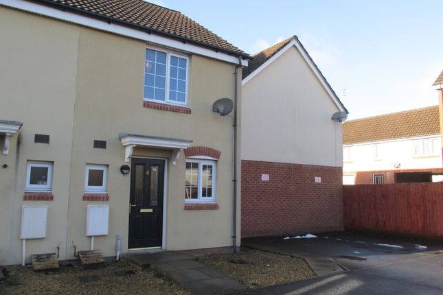 Thumbnail Semi-detached house for sale in Meadow Close, Merthyr Tydfil