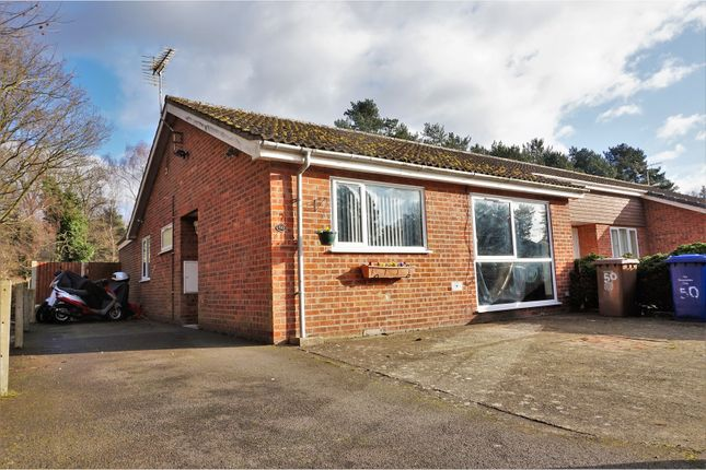 Thumbnail Semi-detached bungalow for sale in Laburnum Avenue, Bury St. Edmunds