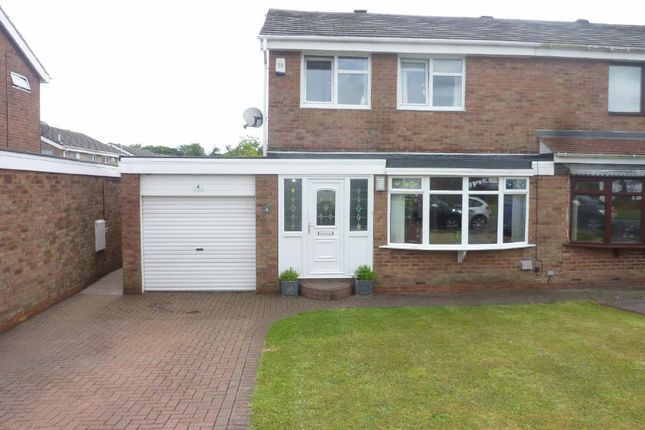 Thumbnail Semi-detached house to rent in Ashkirk Way, Seaton Delaval, Whitley Bay