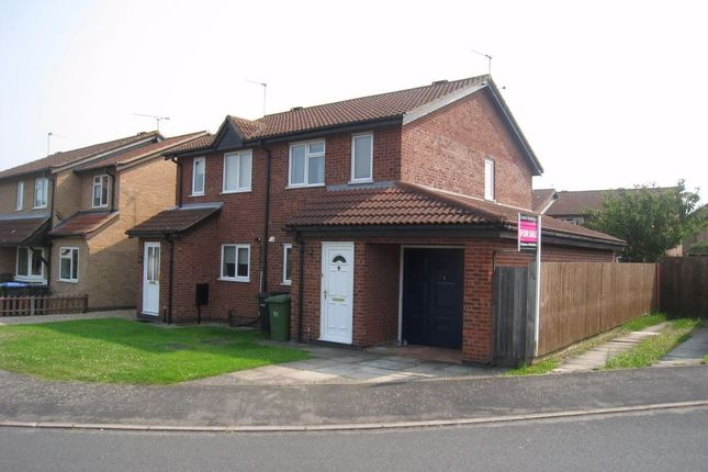 Thumbnail Semi-detached house to rent in The Fieldway, Broughton Astley, Leicester