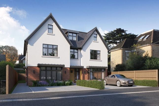 Thumbnail Town house for sale in Sandringham Road, Lower Parkstone, Poole