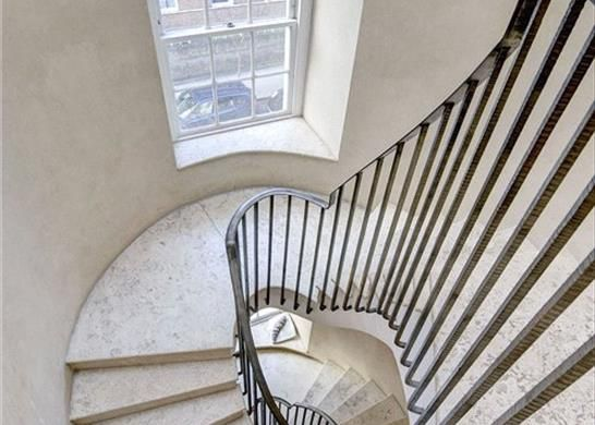 Staircase, W11 of Ladbroke Terrace, Notting Hill, London W11