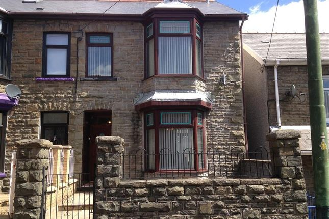 Thumbnail Semi-detached house to rent in Byron Street, Cwmaman, Aberdare