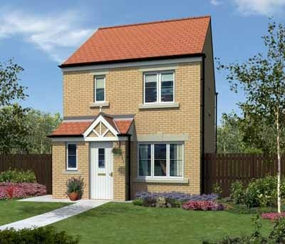 "Thumbnail Semi-detached house for sale in ""The Hanbury"" at Coquet Enterprise Park, Amble, Morpeth"