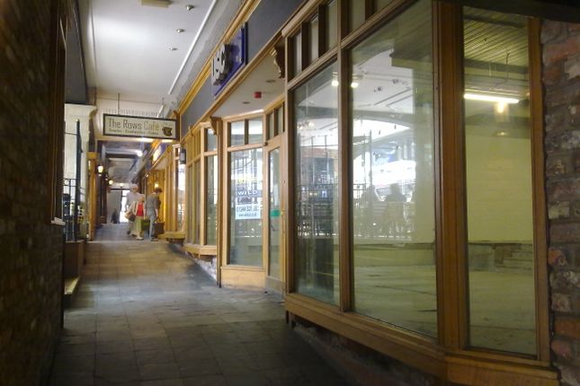 Retail premises to let in Eastgate Row, Chester