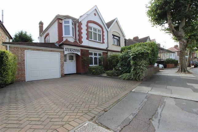 Thumbnail Semi-detached house for sale in Wellington Road, Bush Hill Park, Enfield