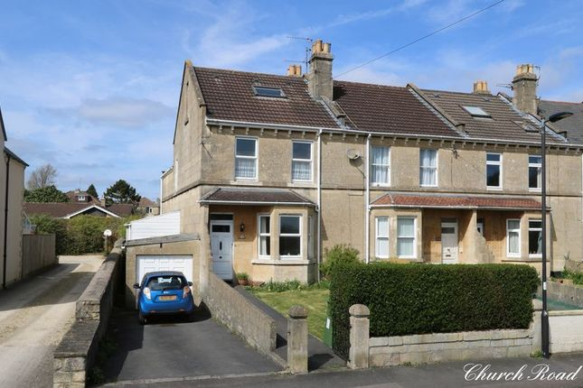 Thumbnail End terrace house for sale in Church Road, Combe Down, Bath