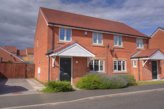 Thumbnail Semi-detached house for sale in Pickering Close, Cramlington