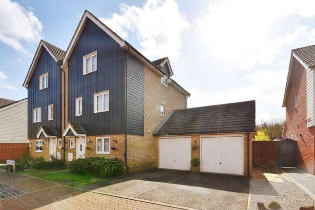 Semi-detached house for sale in Fraser Way, Hawkinge, Folkestone