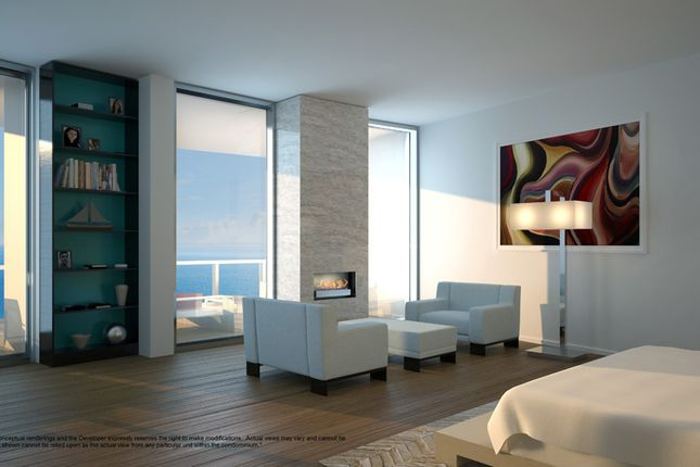 Penthouse Bedroom & Terrace At The Porsche Design Tower In Miami
