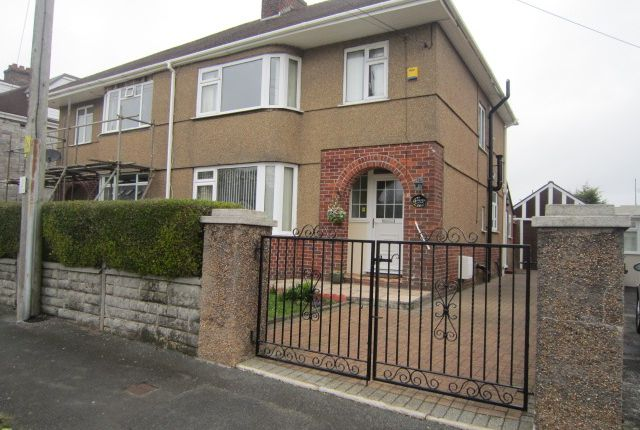 Thumbnail Semi-detached house to rent in Bowden Park Road, Crownhill, Plymouth