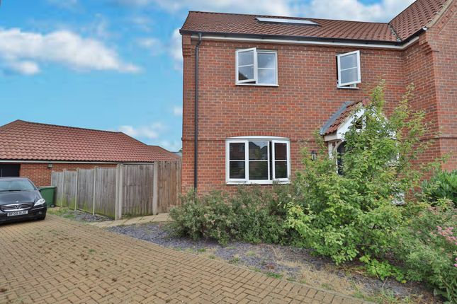 3 bed semi-detached house for sale in Prince William Way, Diss IP22