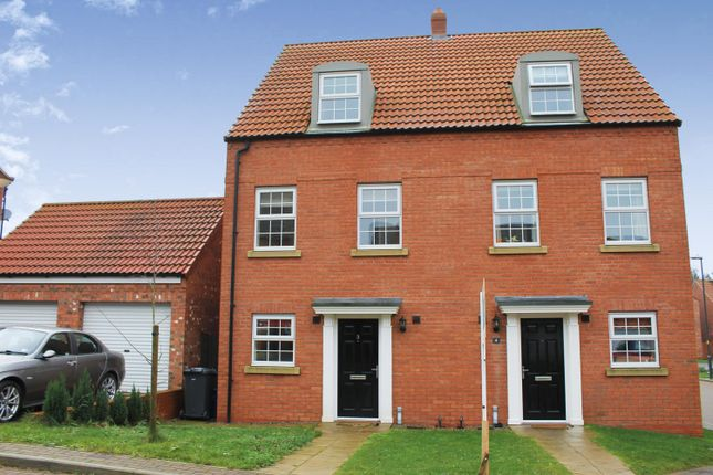 Thumbnail Semi-detached house to rent in Low Medstone Drive, Easingwold, York