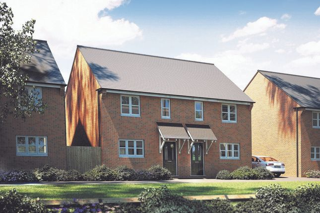 Thumbnail 2 bedroom semi-detached house for sale in The Avenue At Marham Park, Off Mildenhall Road, Fornham All Saints, Suffolk