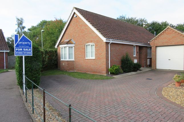 Thumbnail Detached bungalow for sale in Copplestone Close, Worlingham, Beccles