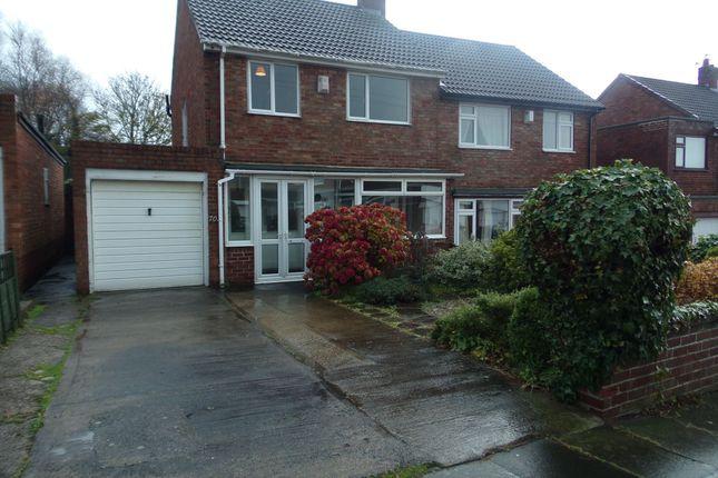 Thumbnail Semi-detached house for sale in Red House Gardens, Netherton Lane, Bedlington