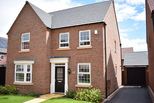 "Thumbnail Detached house for sale in ""Holden"" at Furlong Close, Barkby Road, Syston, Leicester"
