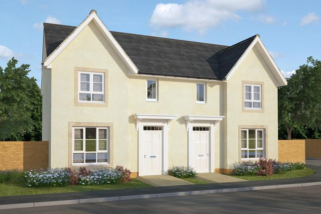 "Thumbnail Semi-detached house for sale in ""Urquhart"" at Greystone Road, Kemnay, Inverurie"