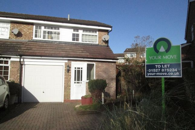 Thumbnail Semi-detached house to rent in Brecon Avenue, Bromsgrove