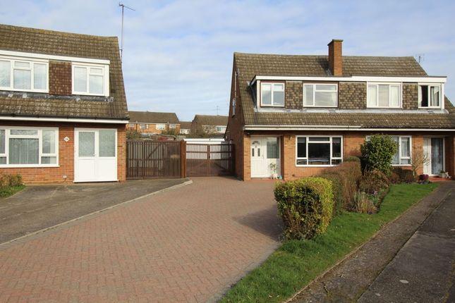 Thumbnail Semi-detached house for sale in Quantock Close, Putnoe, Bedford