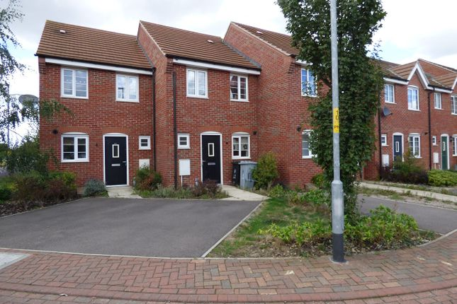 Thumbnail Terraced house to rent in Hathersage Close, Grantham