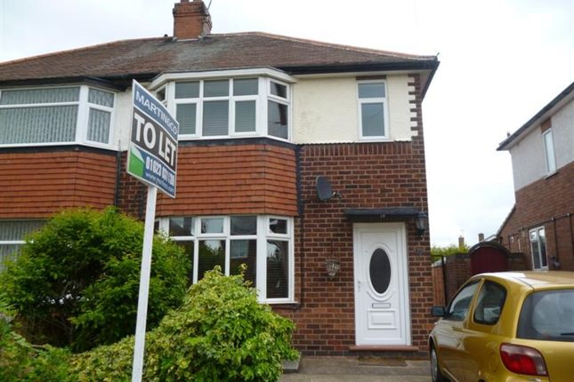 Thumbnail Semi-detached house to rent in Hillsway Crescent, Mansfield