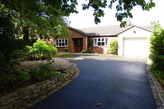Thumbnail Detached bungalow for sale in Cross Road, Haslington, Crewe