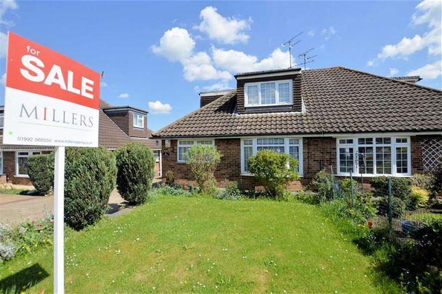 Thumbnail Semi-detached house for sale in Field Close, Abridge, Romford