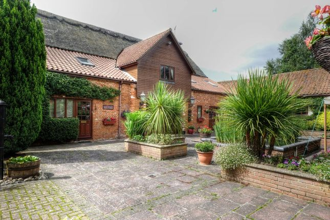 Thumbnail Barn conversion for sale in Woodrising Road, Scoulton, Norwich