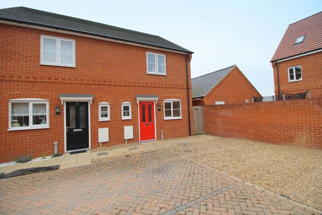 Thumbnail Semi-detached house for sale in Verbena Road, Cringleford, Norwich
