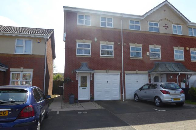 Thumbnail End terrace house for sale in Parkside Way, Rednal, Birmingham