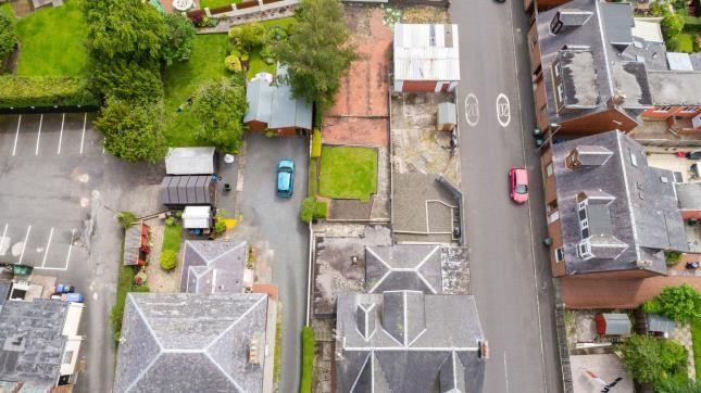 Aerial of Maxwood Road, Galston, East Ayrshire KA4