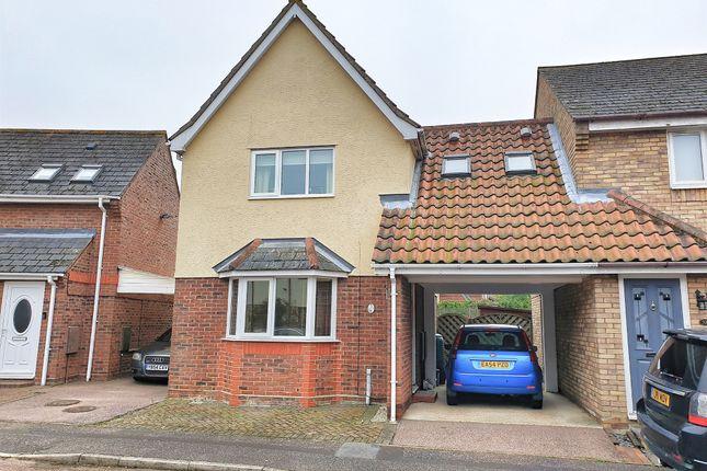 Thumbnail Link-detached house for sale in Aldeburgh Gardens, Highwoods, Colchester