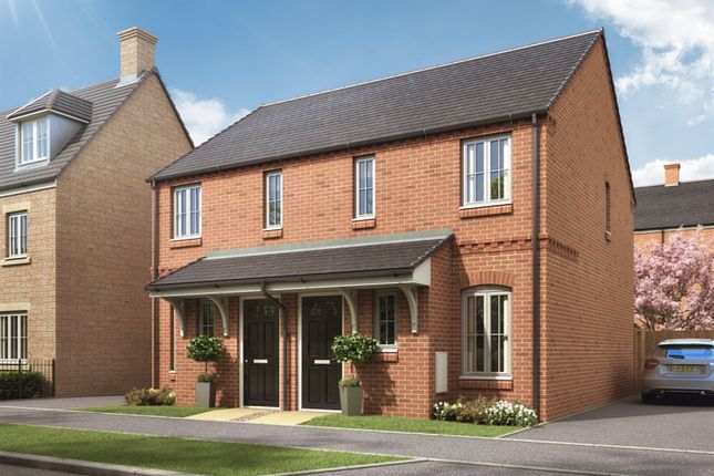 "Thumbnail Semi-detached house for sale in ""The Alnwick"" at Desborough Road, Rothwell, Kettering"