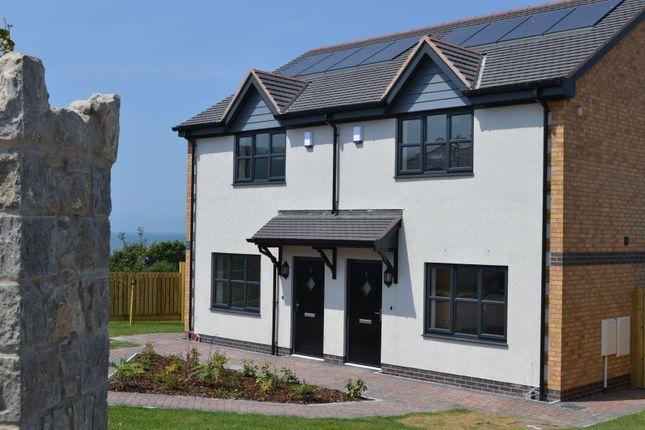 Thumbnail Town house for sale in Gwel Y Mor, Off Ysguborwen Road, Dwygyfylchi, Conwy