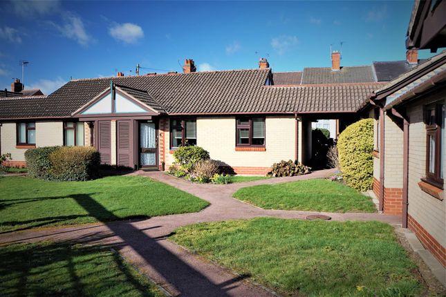Thumbnail Terraced bungalow for sale in De Montfort Court, Anstey, Leicester
