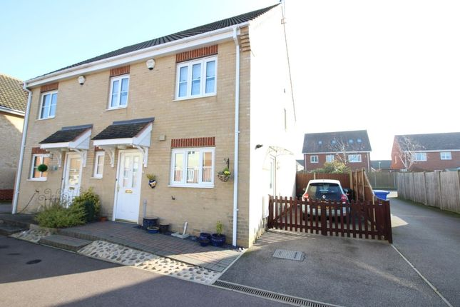 Thumbnail Semi-detached house for sale in Heritage Close, Kessingland, Lowestoft